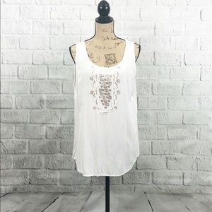 Anthropologie Embellished Nurture Sleeveless Tank